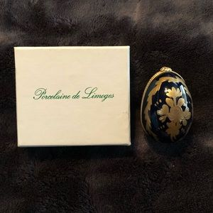 Authentic Egg Shaped Limoges Trinket